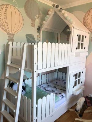 łóżko Piętrowe Domek In 2019 Play Room Kids Bedroom