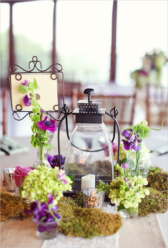 cute & my colors!... could use something like this at the escort card table or a table with your parents & grandparents wedding photos on them