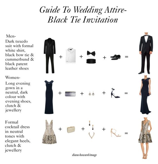 Guide To Wedding Attire-Black Tie Invitation by diane-howard-image on Polyvore