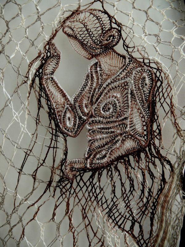 Lace & Wood - Wall Decoration with Lace