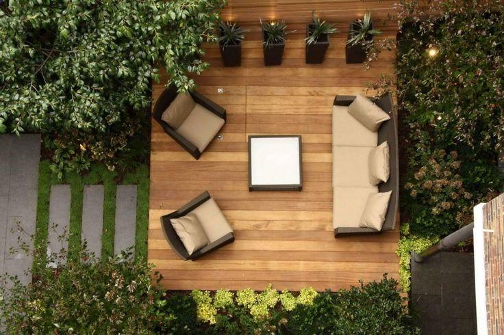 Modern Backyard Sitting Area