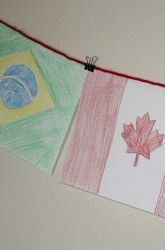 Some arts and crafts mixed with difference parts of the world! When crayons, markers, and papers are included in an lesson, kids are more than likely to get excited about it. Not only do they get to show their artistic skills by drawing the different flags of the world, but it also gives them an idea about the type of country they'll be working with.