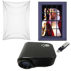 Virtual Reality Santa in The Window USB Projector Kit 40x60  Projection Screen | eBay
