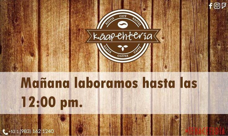 Nuestro #KáapehCOMBO de hoy #sábado les encantará les esperamos a partir de las 8:00 de la mañana para servirles un fresco y recién molido Café Americano unos hotcakes o waffles y un dulce jugo de naranja.  SERVICIO A DOMICILIO AL (983) 162 1240.  #Promociones #KáapehCOMBO #Desayunos #Káapehtear #Káapehtería #TeHaceElDía #ConsumeLocal #Cafetería #Café #Alimentos #Postres #Pasteles #Panes #Cancún #Chetumal #México