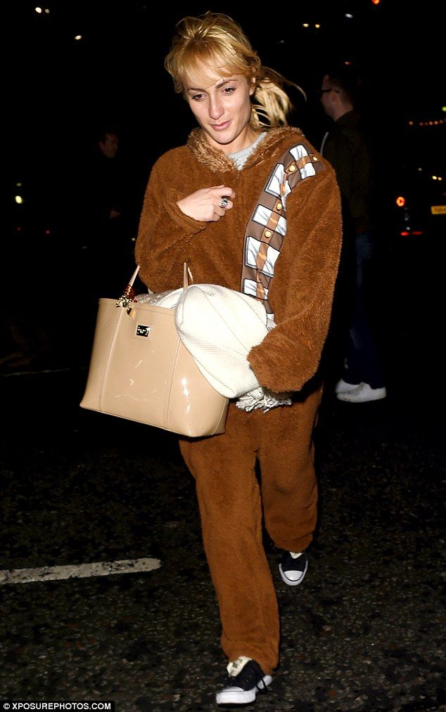 Chewbacc-at her best! Aliona Wilani rocked a Star Wars onesie on Monday night after the Strictly Come Dancing tour