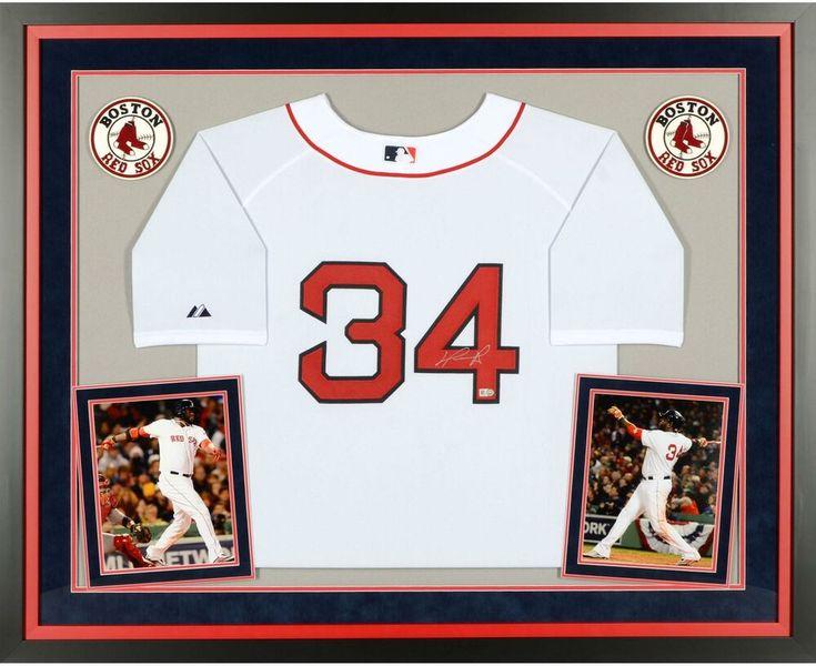 David Ortiz Boston Red Sox Framed Signed White Jersey Fanatics Sportsmemorabilia Autograph Jersey Boston Red Sox Jersey White Jersey Red Sox Jersey