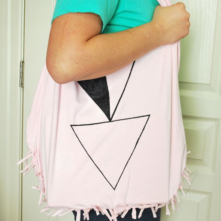 OH SO PRETTY the DIARIES: the DIY: NO-SEW T-SHIRT TOTE - I ...