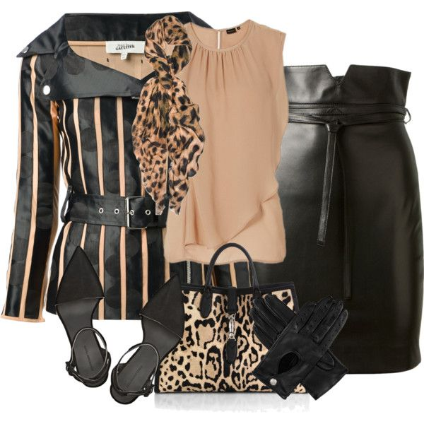 Leopard and Stripes, created by cavell on Polyvore