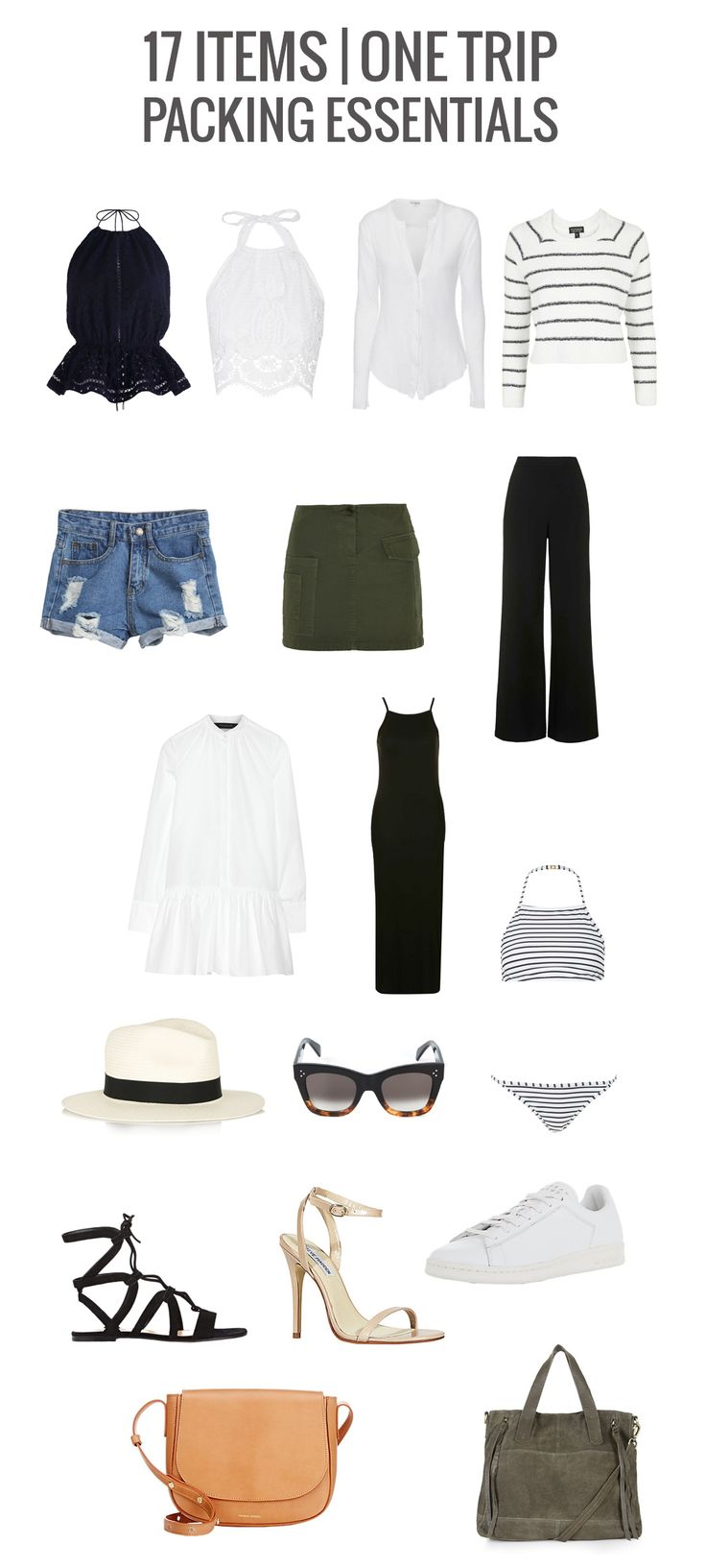 WHAT TO PACK FOR VACATION  TRAVEL PACKING LIST TO TRAVEL LIGHT, ON TREND WITH 17 PIECES  MARIANNA HEWITT FASHION BLOG SUMMER VACATION