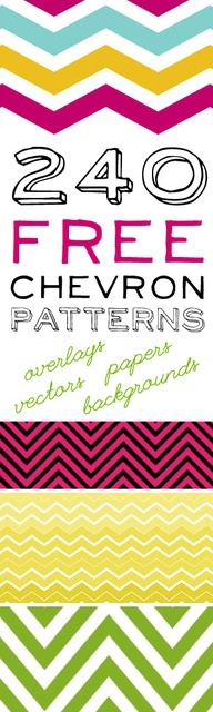 240 Free Chevron Patterns!  What fun and what a great resource.  I definitely would love to use these designs in a project.