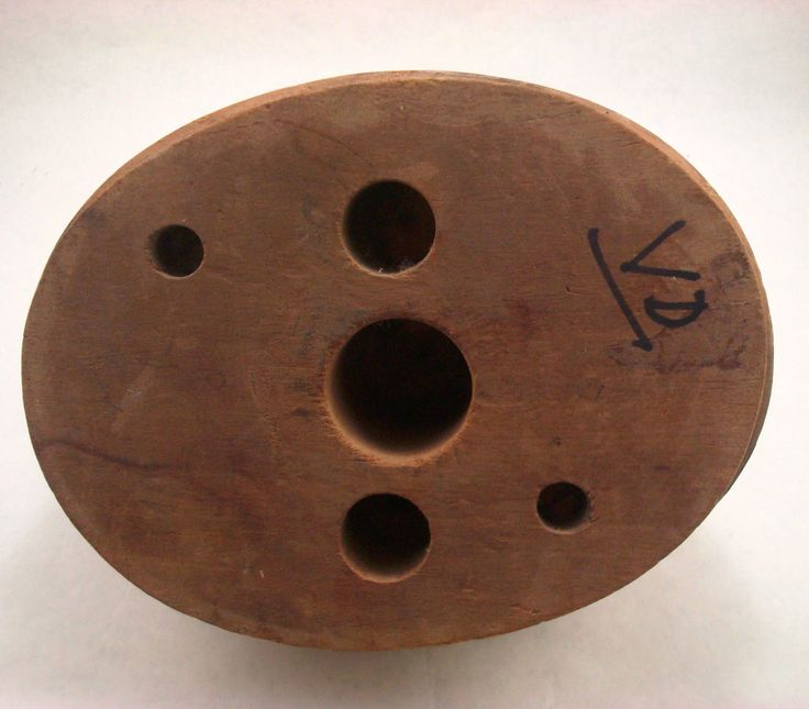 WOOD LADIES TURBAN OLD HAT STORE DISPLAY ANTIQUE VTG BLOCK MOLD MILLINERY FORM…