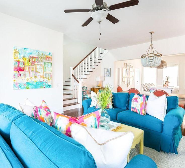 Charleston South Carolina Beach House Tour Sugars Beach Beach Decor Living Room Coastal Living Room Furniture Beach Theme Living Room