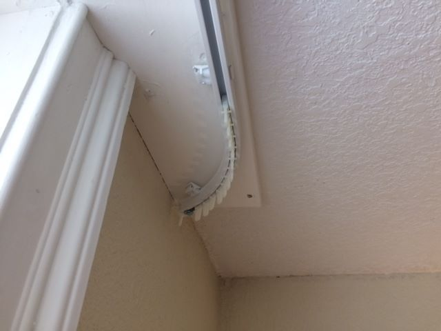 A Curtain Tracks Customer Installed A Curtain Track On A Concrete