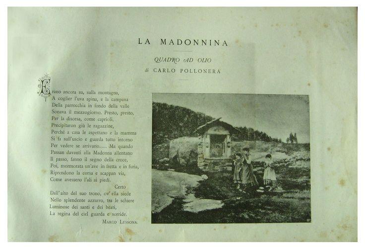 La Madonnina Carlo Pollonera pittore ( Alessandria ( Egitto) 1849 - Torino 1923)
