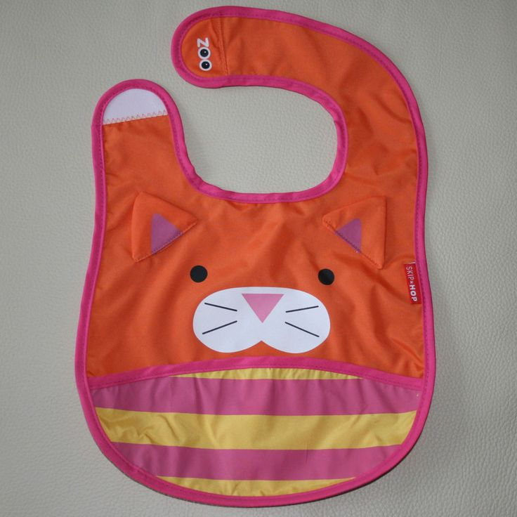 NEW Baby Infant Toddler Feeding Waterproof Bibs SKIP HOP Tiger/Kitty