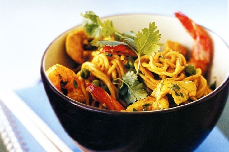 These quick and easy stir-fried Singapore noodles will be a hit with the whole family.