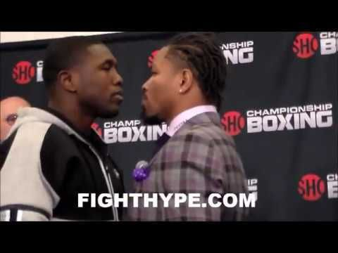 ANDRE BERTO AND SHAWN PORTER COME FACE TO FACE FOR FIRST OFFICIAL STAREDOWN - http://www.truesportsfan.com/andre-berto-and-shawn-porter-come-face-to-face-for-first-official-staredown/