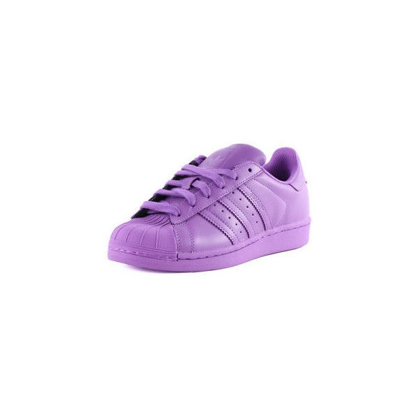 adidas Superstar Supercolour Womens Leather Purple Trainers New Shoes... ❤ liked on Polyvore featuring shoes, adidas footwear, adidas shoes, genuine leather shoes, purple shoes and leather shoes