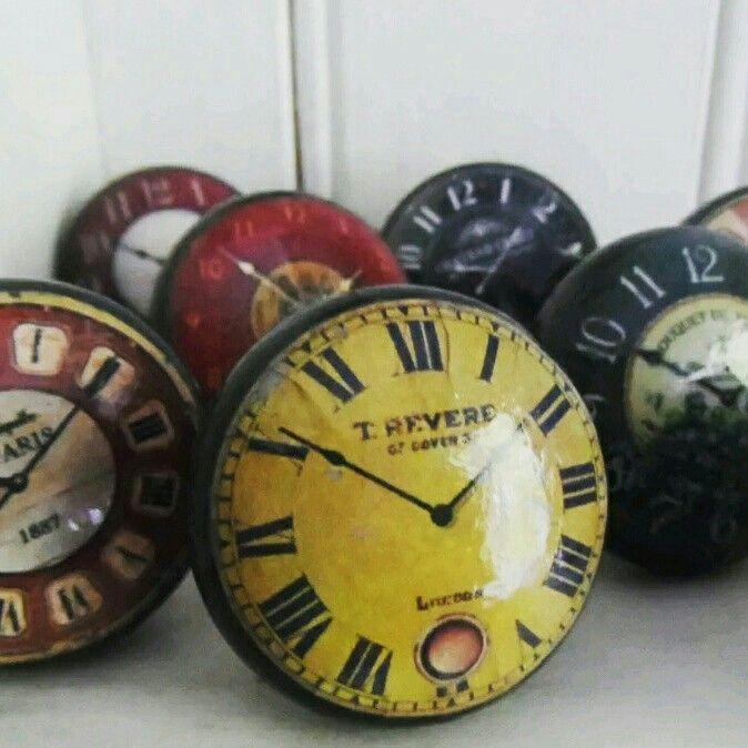 Vintage clock knobs www.facebook.com/vintagewillowhandmade