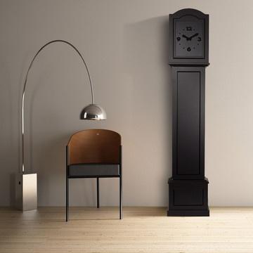 fabcom grandfather clock black kuro