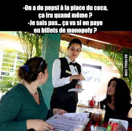 Du pepsi à la place du coca ?