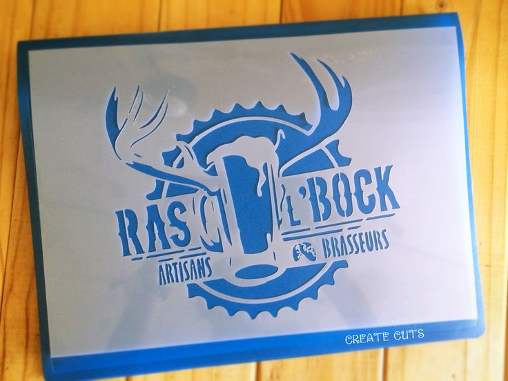 Custom logo stencil for Ras L'Block brewery - by CreateCuts