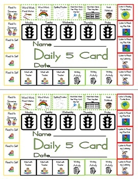 Punch card for daily five