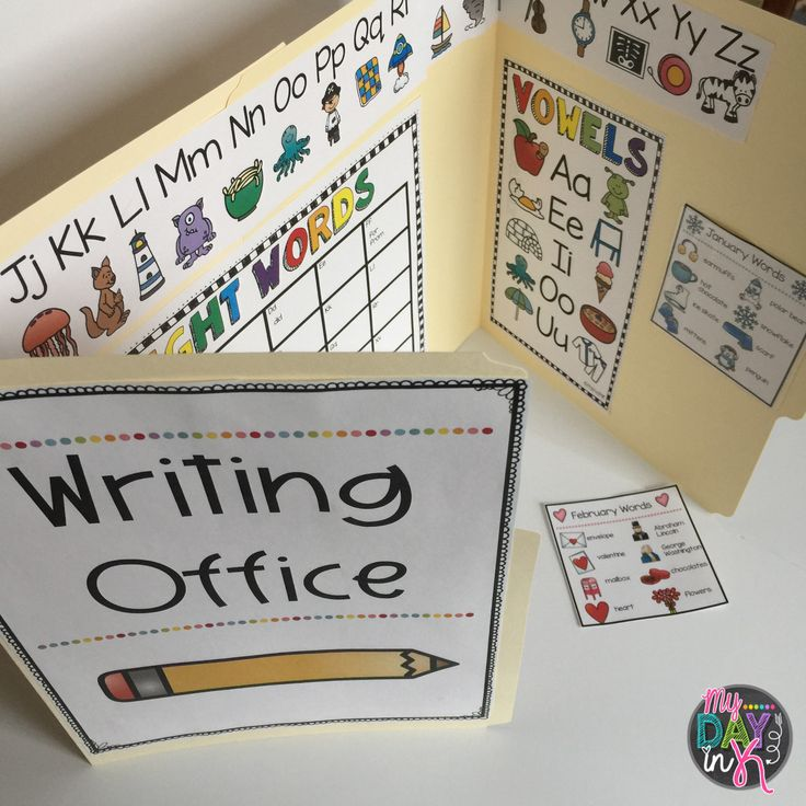 Want a fun way to foster independence during your writing time? Grab these writing pages to create writing offices for your students. Alphabet letters, vowel chart, number words, and an editable sight word chart included! Added bonus, monthly word pages that can be easily changed using those handy label pockets that are currently found at the Target Dollar Spot!
