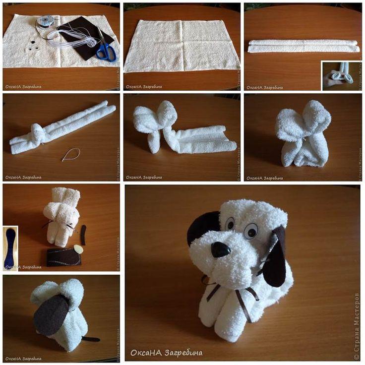 DIY Towel Puppy