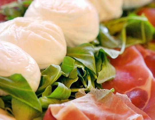 Prosciutto and mozzarella...