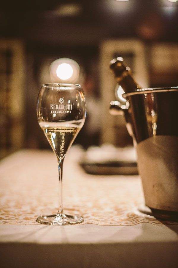 A glass of Berlucchi Franciacorta, Italian exclusive sparkling wine. #BerlucchiMood