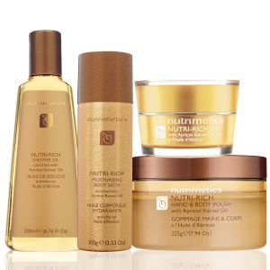 Nutri-Rich Set - the ultimate in body luxury infused with Apricot Kernel Oil to nourish and nurture the skin.  https://www.nutrimetics.com.au/juliegilbody/Skincare/Classic_Care/Nutri-Rich_Set.aspx
