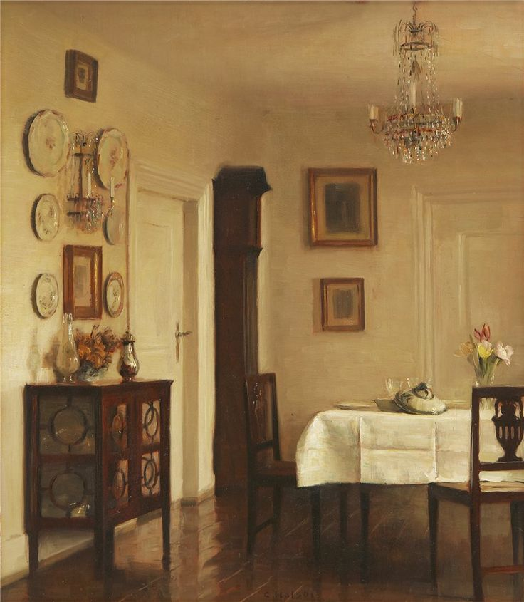 Carl Vilhelm Holsøe (Danish, 1863 - 1935) - Interior
