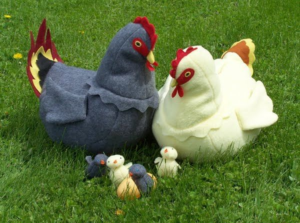 Free Chicken Sewing Pattern | Pattern review: Chickens!