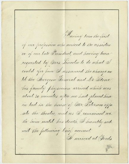 assassination of abraham lincoln essay The 16th president of abraham lincoln made a significant contribution to the recognition of rights of the blacks read this sample essay about lincoln.