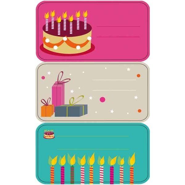 """Comprar 3 Hojas Etiquetas Regalo """" Cumpleaños """" Apli 11606  #regalo #casa #colores #colegio #school #infantil #niños #dibujos #etiquetas"""