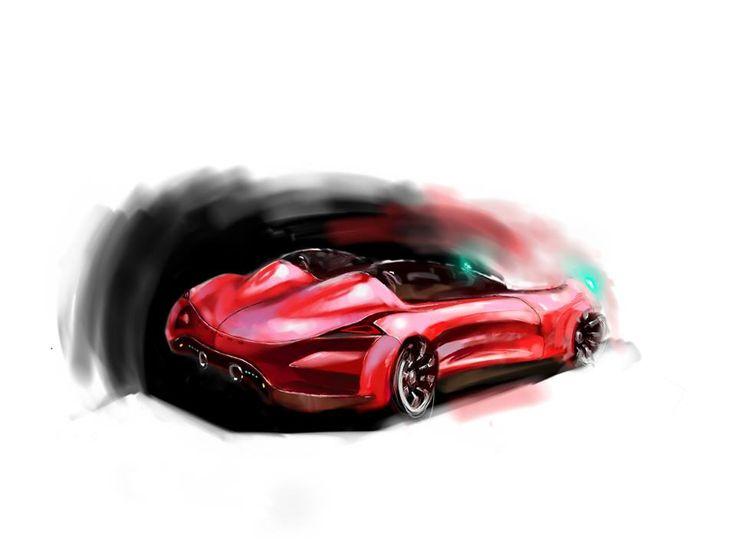 PAINTER design sketch photoshop draw painting car Transportation Design
