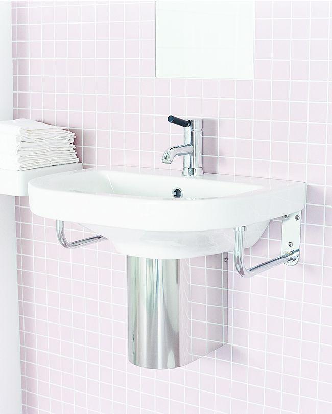 Tvättställ 860-2 - för bult/konsolmontage 60 cm