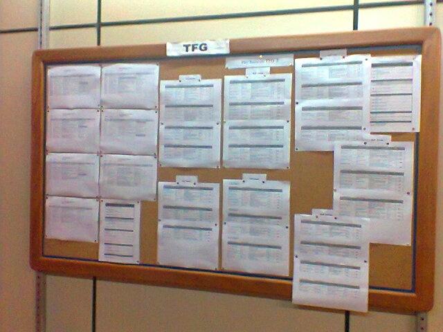 FAU - Mural informativo para os alunos feito pela coordenação de um departamento.