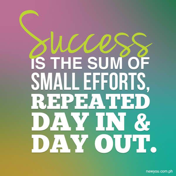 SUCCESS Is The Sum Of Small Efforts, Repeatedly Day In