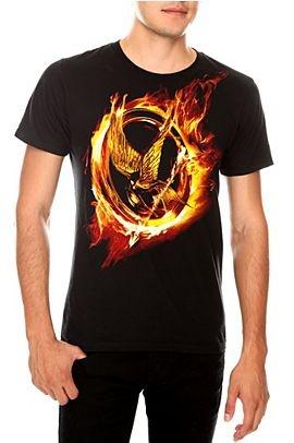 The Hunger Games Flaming Mockingjay t-shirt