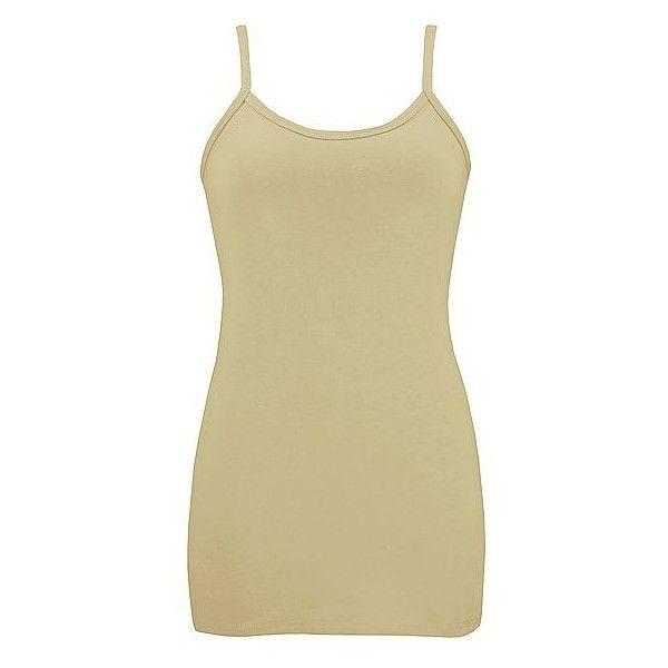 BKE Super Long Strappy Tank Top ($5.95) ❤ liked on Polyvore featuring tops, tanks, tank tops, blusas, camis, strappy tank, long tank, long camisole tank tops, beige tank top and long camisole