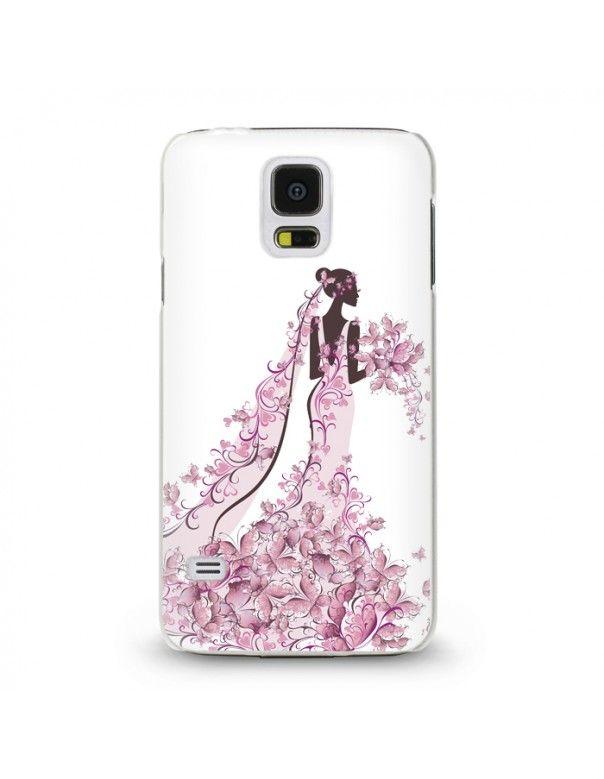 Handyhülle Für Samsung Galaxy S5 Mini ( Frau ) - hochwertige Schutzhülle im modernen Design.