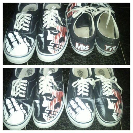my vans shoes couple misfits