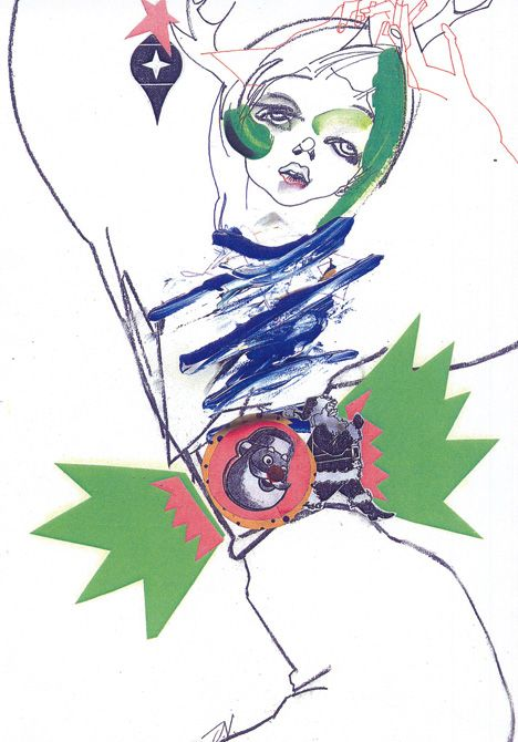 Julie Verhoeven, Christmas card for Topshop, 2005