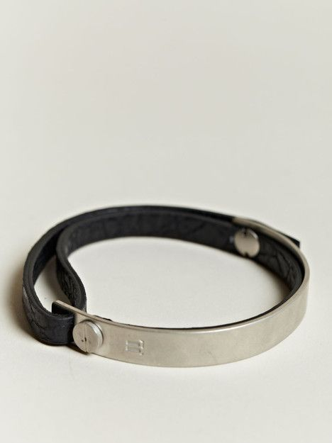 Balenciaga Men's Leather and Metal Bracelet.  I would wear it myself -and I'd get one for fabulous men too.