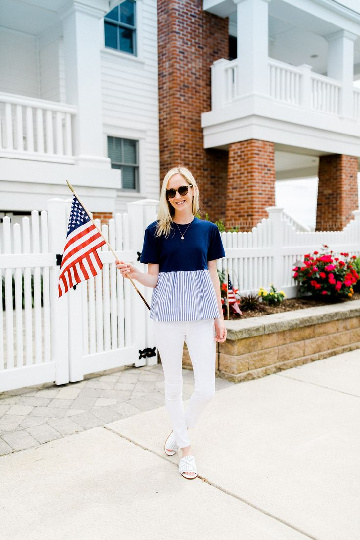 Easy 4th of July outfit - Kelly in the City.