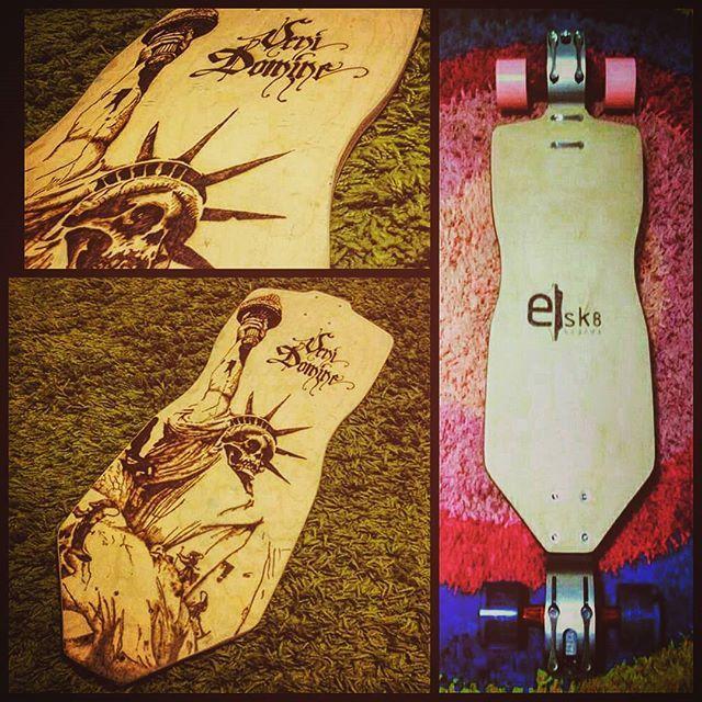 Pumper Board with G Bomb precision brackets. Pumper Board for Brackets. Deck 28'' x 9,5'' Concave 10mm Camber 10mm.  #longboard #longboardprecisionbrackets #longboardbrasil #longboardportugal #ldpportugal #ldp #longboardporto #longdistancepumping #pyrography #birch #basaltfiber #customlongboard #custommade  #skateeveryday #skateeverydamday #gbomb #seismicskate