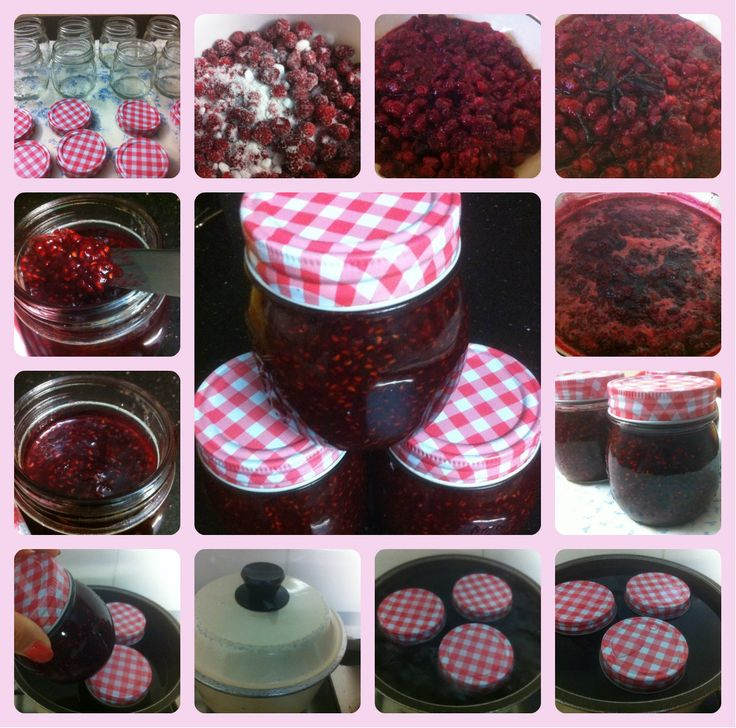 Raspberry Jam Making. All the steps in images!