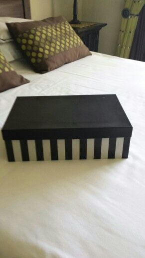 Stripe box for wedding day items